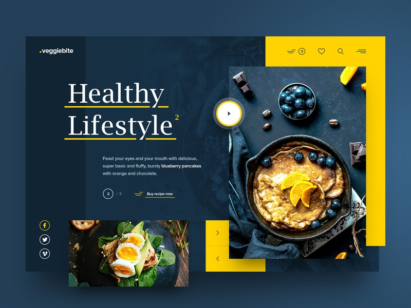 Veggie Bite uxdesign uidesign layout webdesign minimal clean photoshop web responsive ux ui website design drawingart