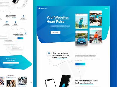 SEO Organic html5 webdesign minimal clean photoshop web responsive ui ux website design drawingart organic seo