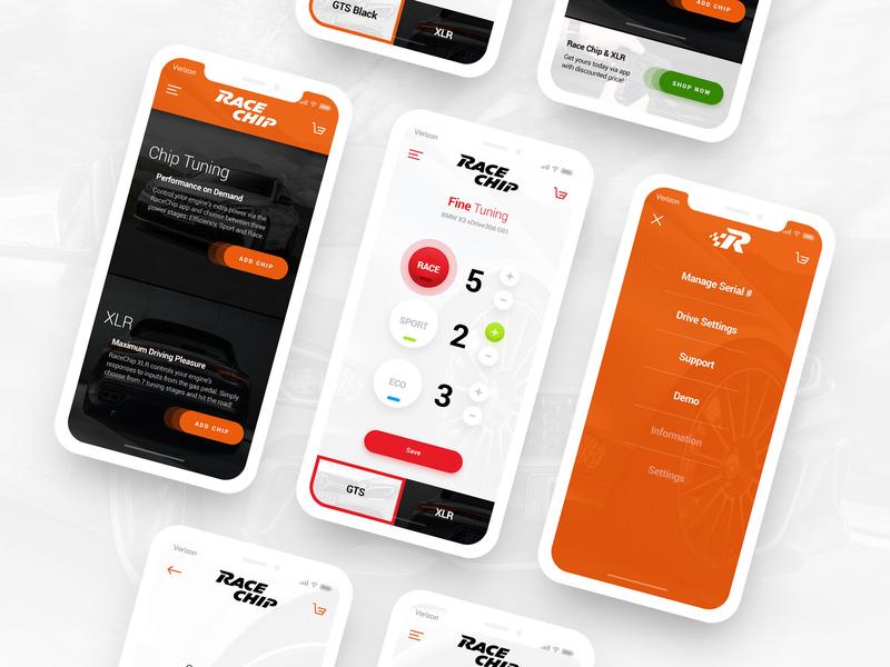 Race Chip App by Miro / DrawingArt on Dribbble