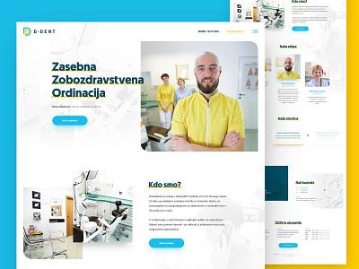D-Dent dental clinic dentist dental vector logo layout webdesign minimal clean photoshop web responsive ui ux website design drawingart