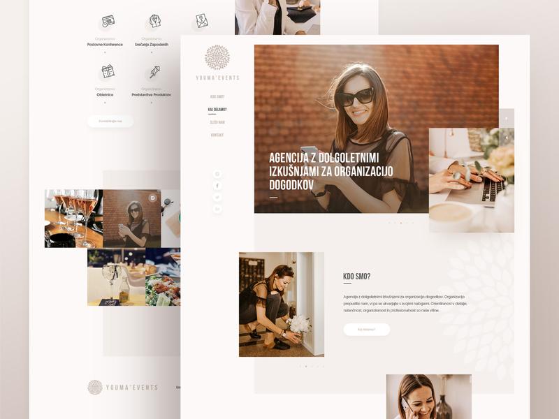 YOUMA ' Events uiux html css layout webdesign minimal clean photoshop web responsive ux ui website design drawingart