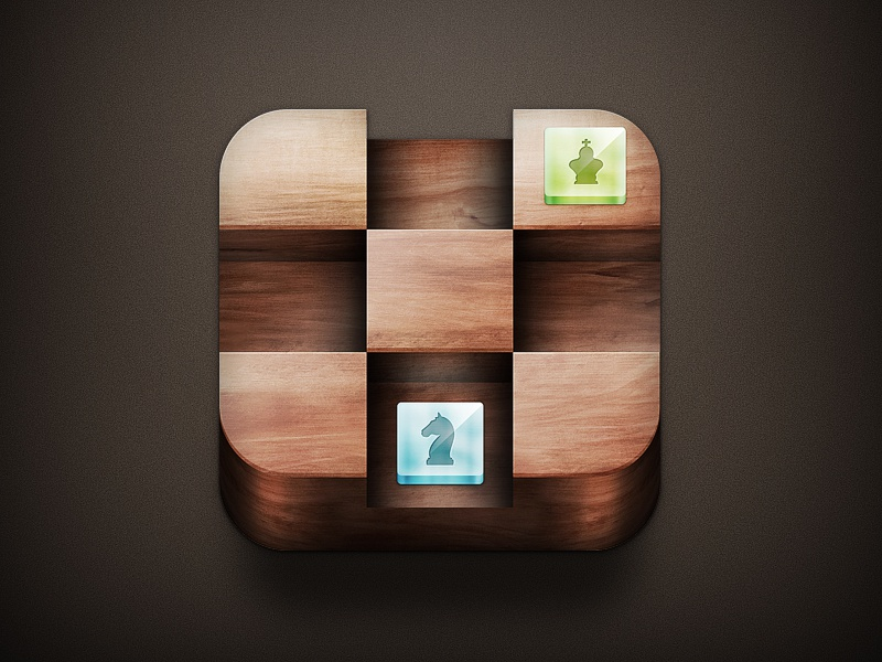 Chess chess icon ios iphone ipad drawingart design photoshop layout