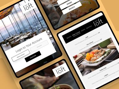 Das Loft star michelin application restaurant menu ipad app ios layout photoshop web responsive ui ux website design drawingart