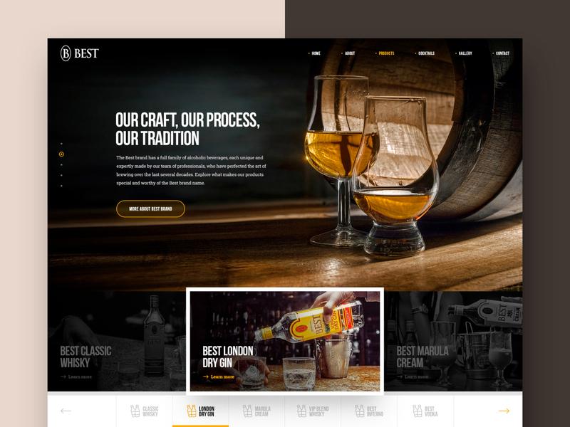BEST beverage product marula vodka gin drink whisky whiskey liquor photoshop web responsive ux website ui design drawingart