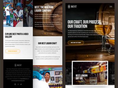 BEST Mobile drink best uidesign gin vodka whiskey whisky beverage liquor photoshop web responsive ux ui website design drawingart