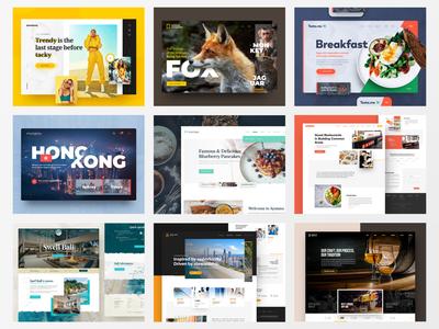 2019 Best 9 shots shots 9 best webdesign photoshop web responsive ux website ui design drawingart