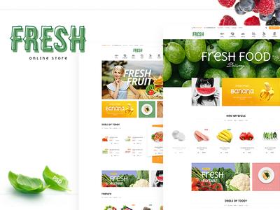 Fresh - Organic store PSD Template