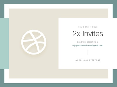 ✌ 2x Dribbble invites giveaway ✌