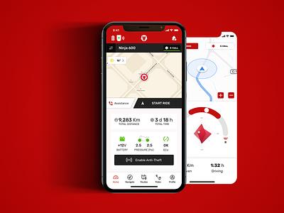 Motorbike Smart Companion App app design ui