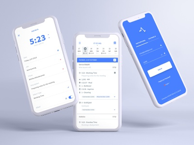 Time Tracking & Business Expenses Tool analysis technology dashboard ux app ui design clean flatdesign time tracking resources tracking work tracking calendar app ui