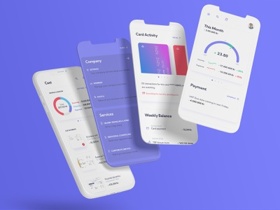 Banking Application control calendar technology clean dashboard vector business app ui app banking design ui ux bank app bank