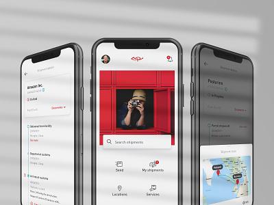 Postal Service App typography analytics analysis business technology app ui design uxdesign clean ui ux app design postal service app