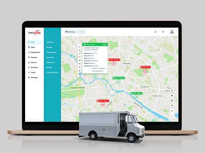 Fleet management app ui design ux dashboard app ui delivery man driver drive gps track pilot amazon delivery fleet