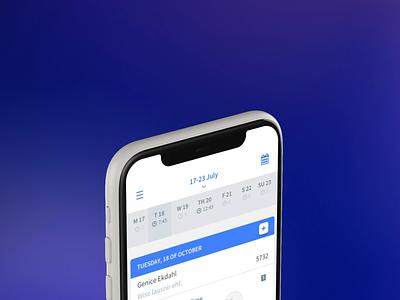 Calendar Scrolling management app organise work calendar app app uiux app ui calendar ui calendar design calendar