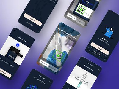 COVID Antigen Test App Design motion graphic animation app design swab test test detection coronavirus app ui app ux