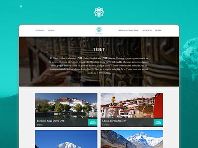 Travel Agency Website typography logo branding colorscheme tibetan tibet traveling agency traveling travel luxury premium website concept web design website design website