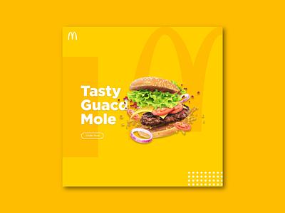 McDonald's  burger banner design banner poster burger