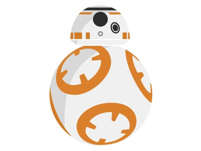BB-8 Droid Vector icons the force awakens star wars vector droid bb-8