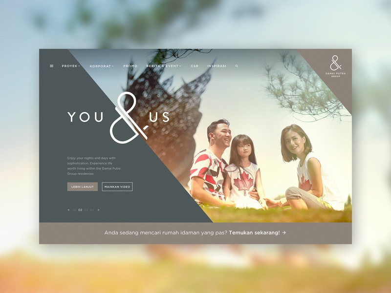 Damai Putra Group Landing Page home landing page website desktop user interface web design ui definite kota harapan indah damai putra group corporate uidesign ux