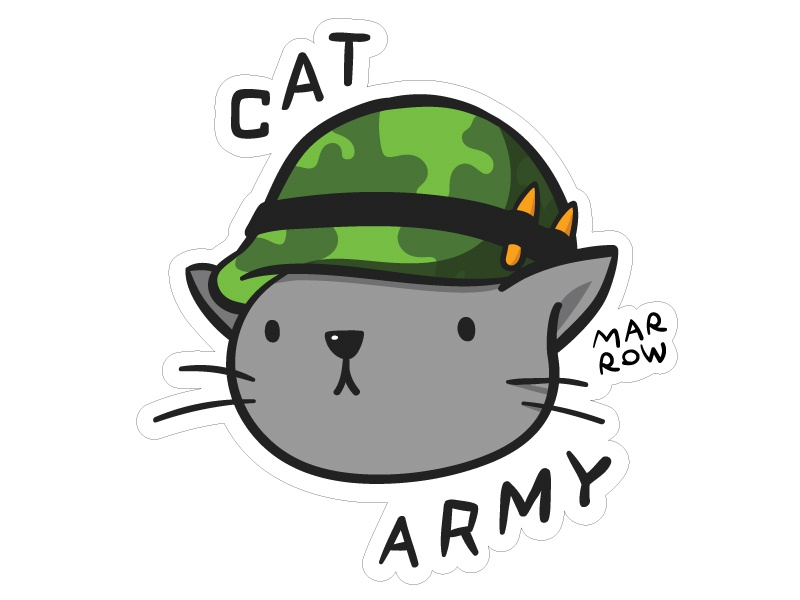 Marrow Cat Army vector illustration cat marrow clothing skateboarding cat army heavy on the marrow marrow