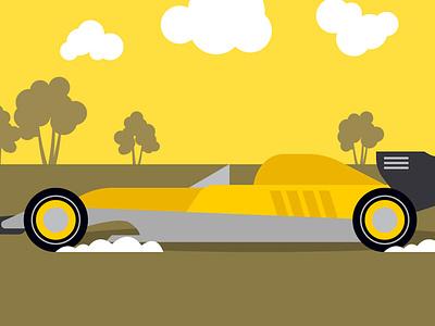 Sport Car vector design art design illustration background video ads advertising yellow flat cartoon adobe illustrator vector
