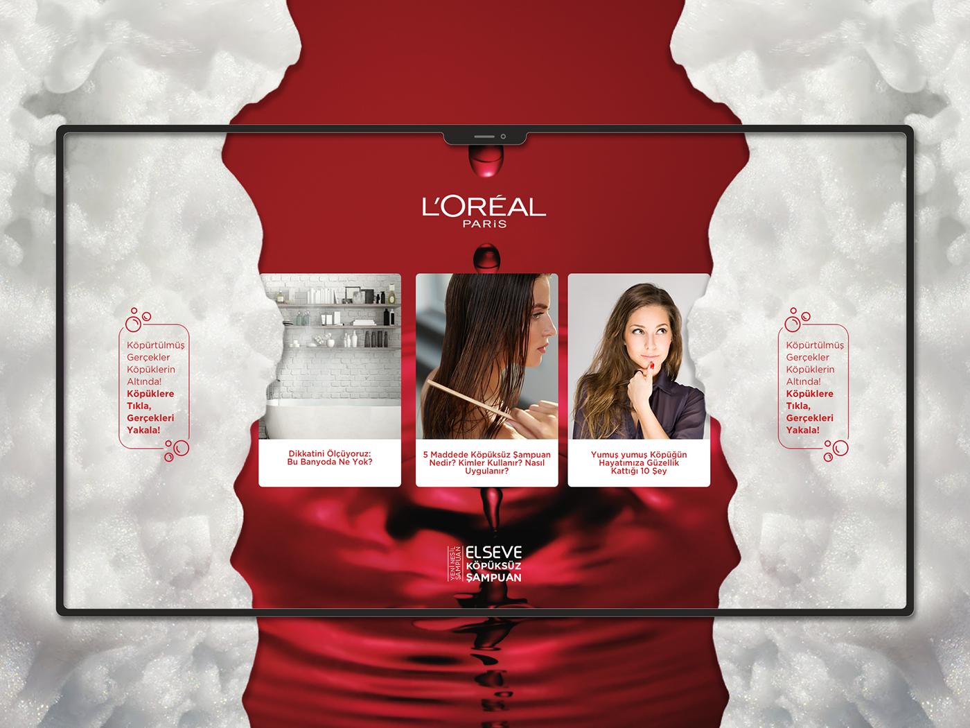 Loreal Micropage Design design web ux ui