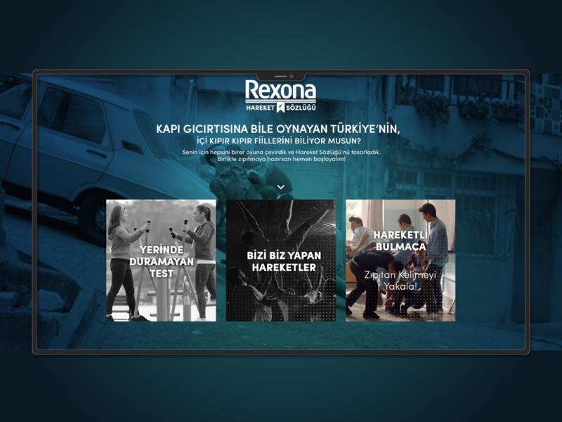 Rexona Micropage Design design web ui ux