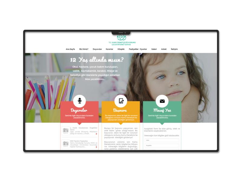 KDK Children Website Design design web ux ui