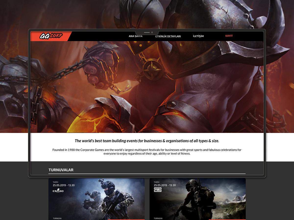 GGCorp Corporate Games Website Design design web ux ui