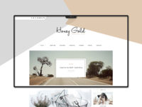 Honey Gold Website Template Design
