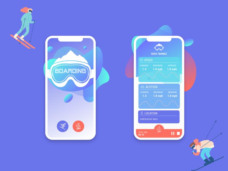Ski Tracker Mobile App Design app design ux ui