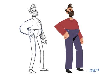 Self Portrait - Character Design Process