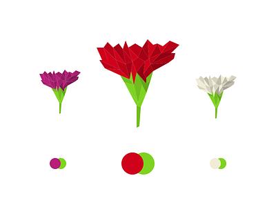Carnation polygon flower carnation logo