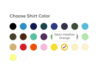 Choose Shirt Color