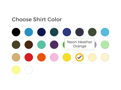 Choose Shirt Color shirt picker color