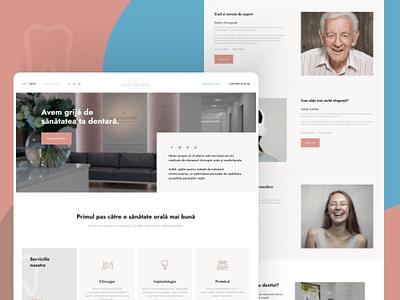 Masterdent website responsive dentist clinic website concept landing ui