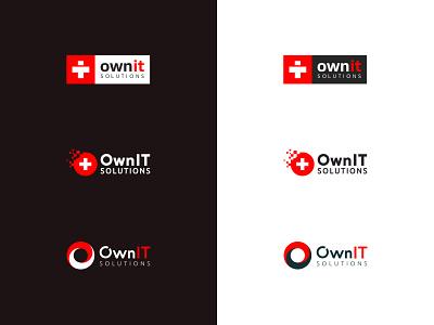 OwnIT logo design progress flag serious smart startup swiss logo