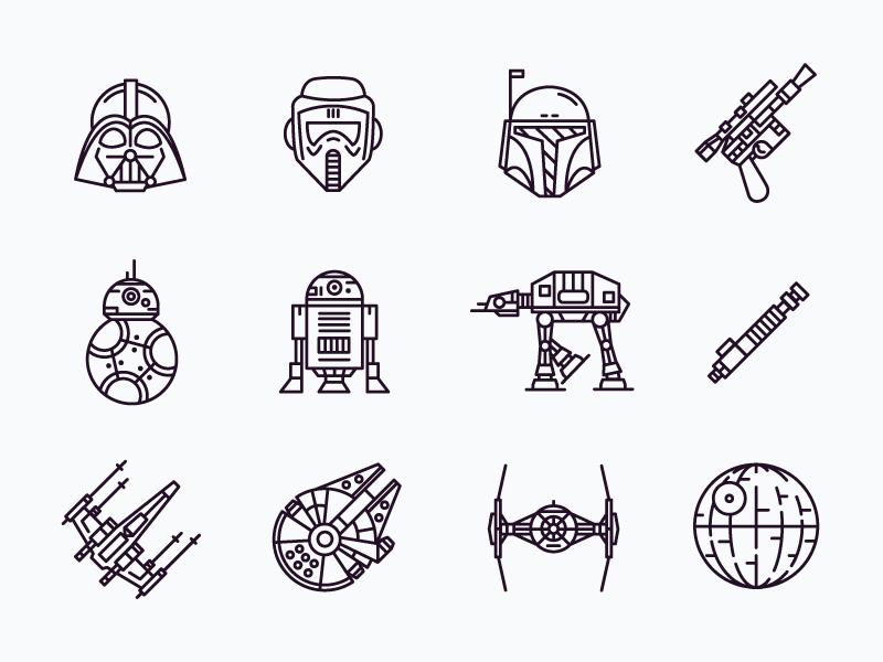 star wars icons by simonas maciulis
