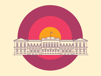 Presidential Palace [Vilnius Landmarks] line building lithuania vilnius landmarks landmark icon illustration