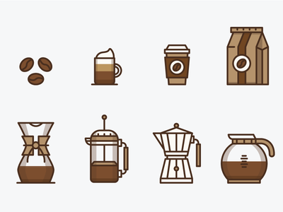Coffee Icons morning seed mug brown icon coffee