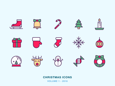 Christmas Icons icon icons holiday candy sock candle tree present deer snow christmas