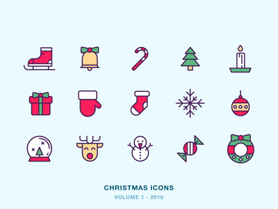 Christmas Icons icon icons holiday candy sock candle tree present deer snow christmas