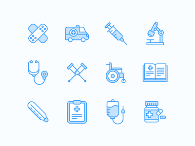Medical Icons outline ai pills needle hospital doctor icon set medicine medical icon