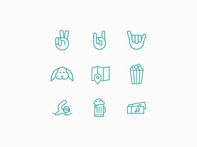 Hobbies graphic design design claudine stepien icon brand identity brand design branding iconography icon set icons