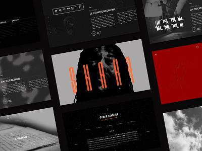 Shaka Senghor // 2016 website student project graphic design design brand design dark ui ui design webdesign shaka senghor claudine stepien