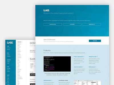 Wee responsive documentation docs framework bootstrap css javascript blue development grid landing site