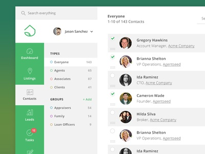 Contact List By Michael Leigeber - Dribbble