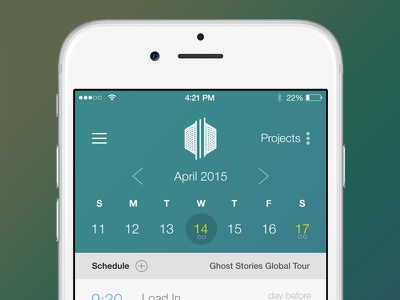 Mobile Calendar Application ios native schedule calendar application app apple dates month picker