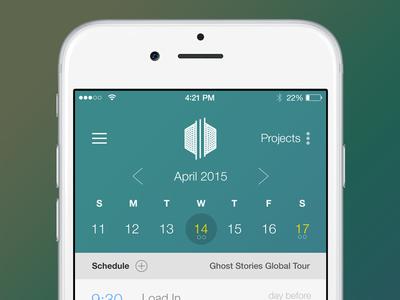 Mobile Calendar Application ios native schedule calendar application app apple dates month picker
