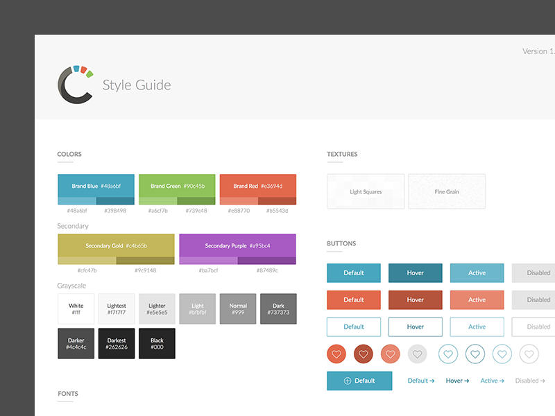 Guide templates selol ink style guide template by michael leigeber dribbble maxwellsz